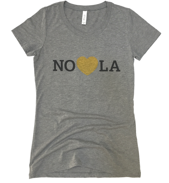 Heart in Nola Women's T shirt