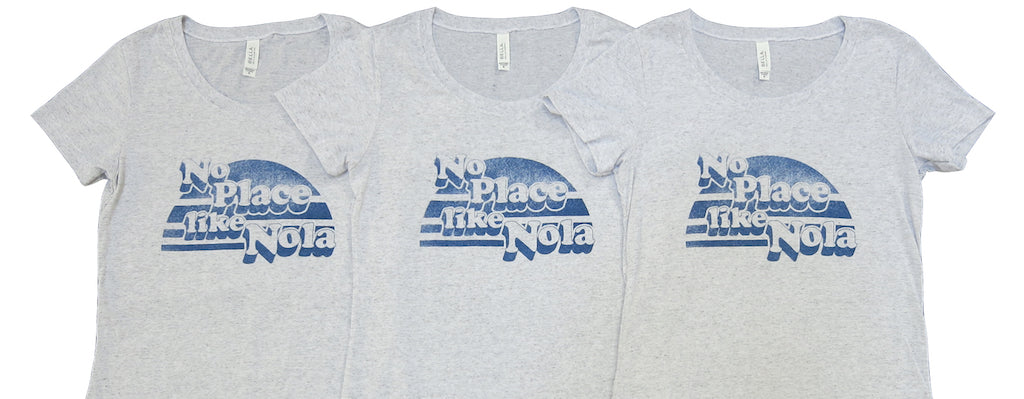 No Place Like Nola Grey T shirt