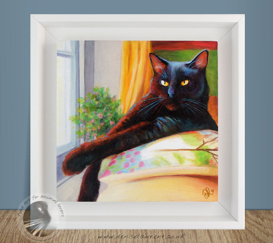 Harry In The Window - Acrylic Cat Painting
