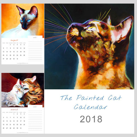 2018 Painted Cat Calendar