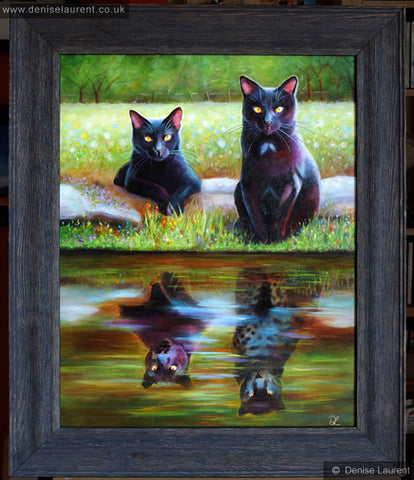 An oil painting on board, framed