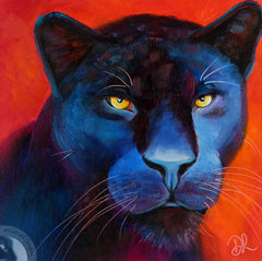 Black panther contemporary painting in oils