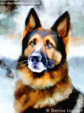 German shepherd digital portrait