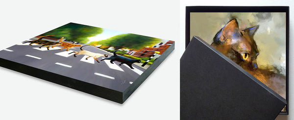 panel print edge and panel print in its gift box