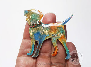Border Terrier Dog Brooch