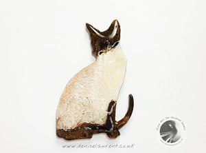 Siamese Cat Brooch