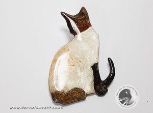 Siamese Cat Brooch - Casper