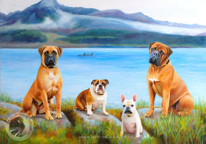 Portrait Of The Dogs At Seward