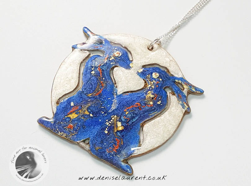 Hares Sun & Moon Pendant And Earrings