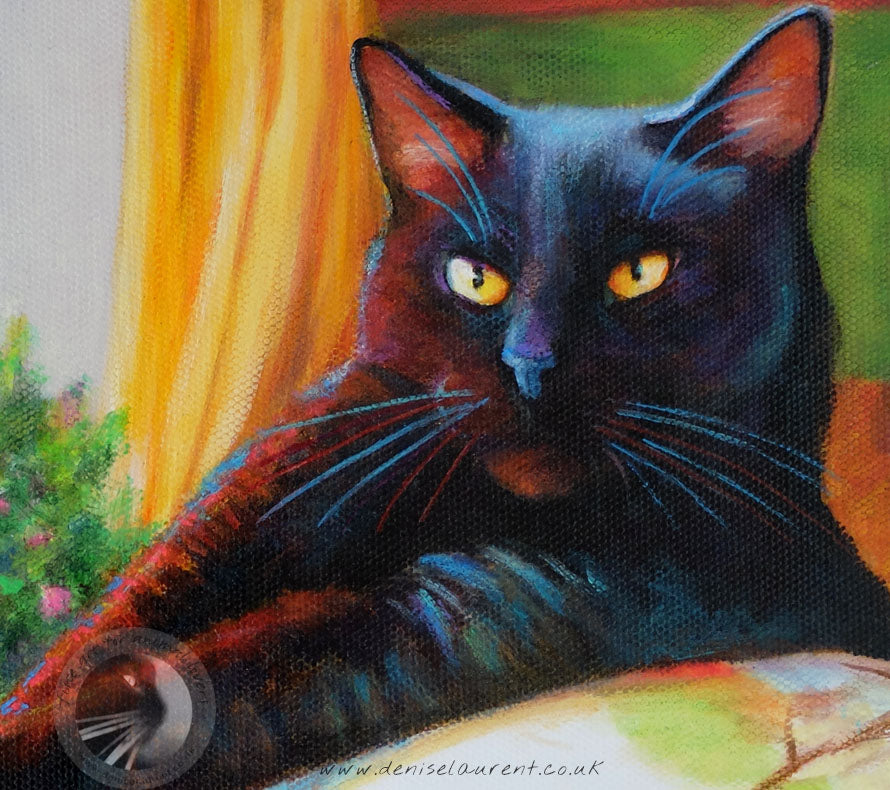 "Harry In The Window - 8""x8"" Acrylic Painting"