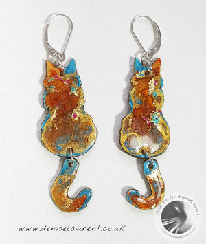 A Pair of Reversible Layla Cat Earrings