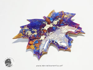 London Plane Purple Leaf Brooch