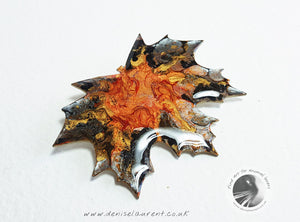 London Plane Dark Leaf Brooch