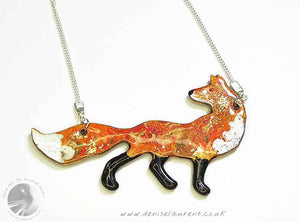 Look Back Fox Reversible Necklace