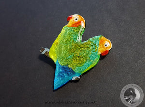 Lovebirds Brooch