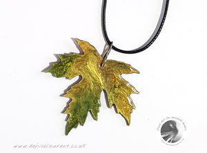Silver Maple Leaf Necklace