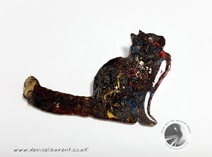 Maine Coon Cat Brooch - Poppy