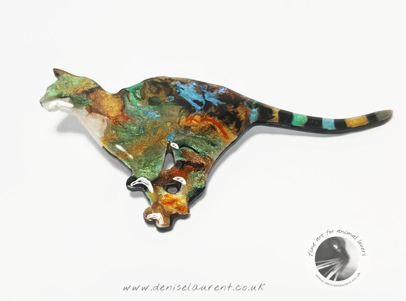 Running Cat Brooch