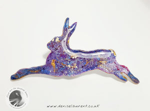 Running Hare Brooch