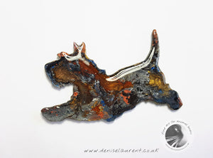 Running Terrier Dog Brooch