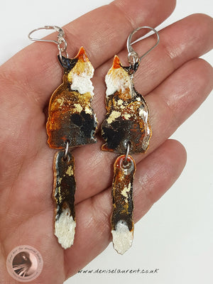 Sadie Cat Pendant And Earrings