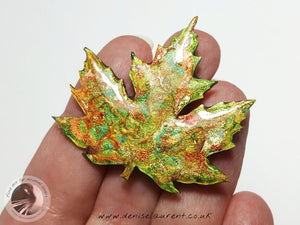 Silver Maple Leaf Brooch