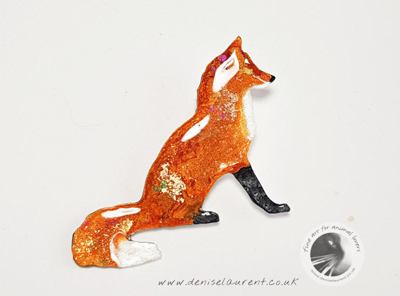 Fox Brooch - Sitting Fox