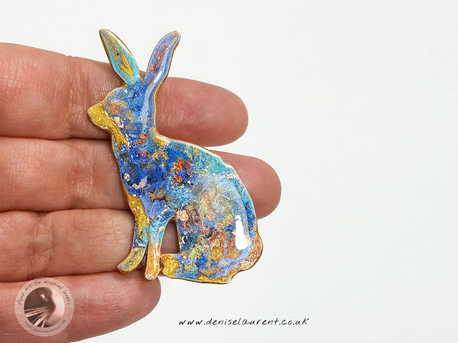 Sitting Hare Brooch