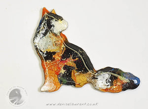 Longhaired Cat Brooch - Teddy