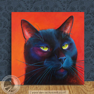 The Look 12x12 inch Oil Painting Framed
