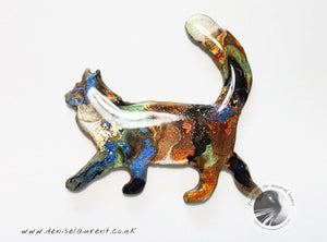 Walking Maine Coon Cat Brooch