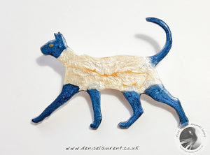Walking Siamese Cat Brooch