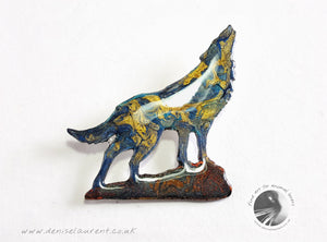 Howling Wolf Brooch