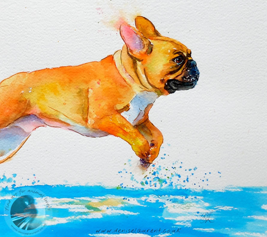 "A Run On The Beach - 18""x12"" Watercolour Painting"