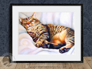 After The Hunt - Tabby Cat Print