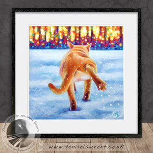 red burmese cat framed artwork