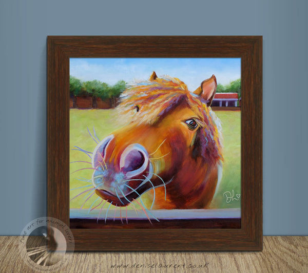 "Bella - 12x12"" Framed Oil Painting"