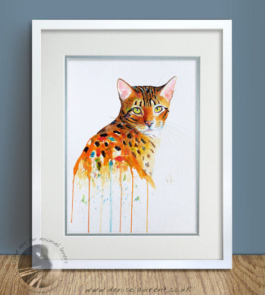 "That Bengal Look - 14""x11"" Watercolour Painting"