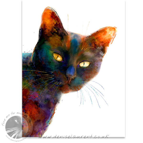 Black And Proud - Black Cat Print