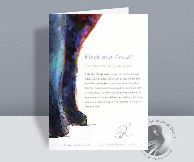 Black And Proud Card