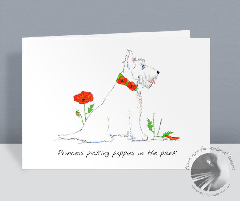 Princess Picking Poppies In The Park Card