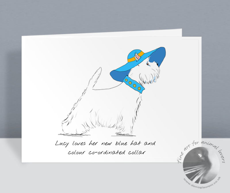 Lucy Loves Her Blue Hat Card