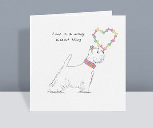 Love Is A Many Biscuit Thing Card