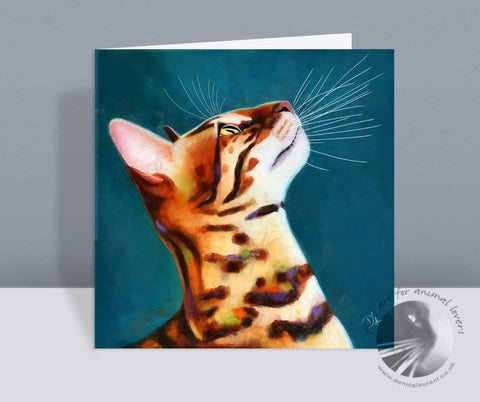 What's Up Bengal Cat Card