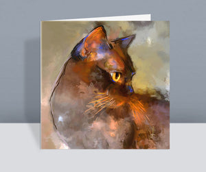 Elli Burmese Cat Card