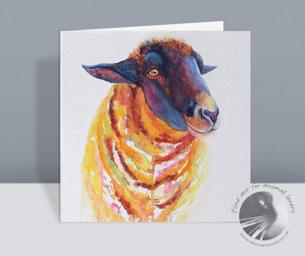 Black Faced Sheep Card
