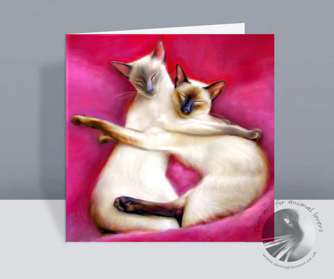 Sugar Plum Fairies Siamese Cat Card