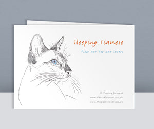 Sleeping Siamese Cards