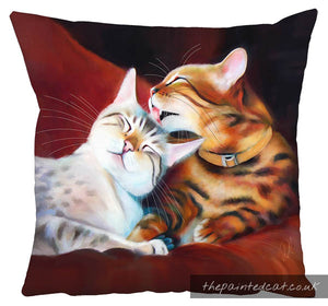 Mutual Grooming Bengal Cat Cushion