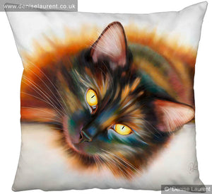 Sunbathing Black Cat Cushion